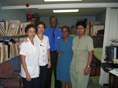 Dr. David Toby and his team in Trinidad.
